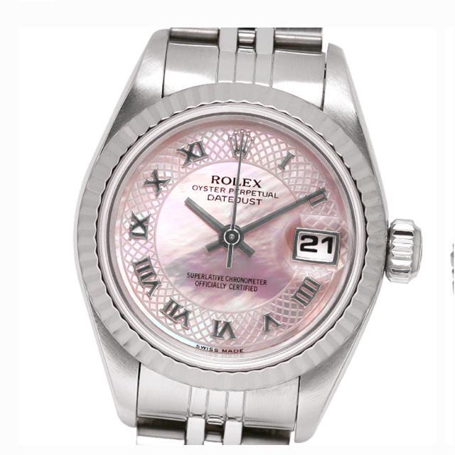ROLEX(ロレックス)のaachan様専用ROLEX ロレックス デイトジャスト ピンクシェル レディースのファッション小物(腕時計)の商品写真