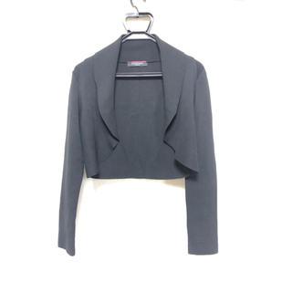 レオナール(LEONARD)のレオナール   ショートジャケット カーディガン 黒 美品(テーラードジャケット)
