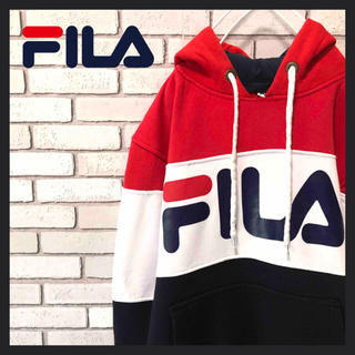 FILA - 【人気】FILA フィラ スウェットパーカー ☆ ビックサイズ  人気カラー