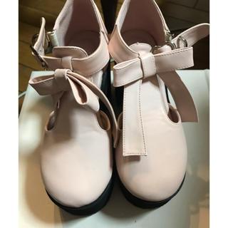 アンクルージュ(Ank Rouge)の Ank Rouge リボン厚底シューズ(ローファー/革靴)