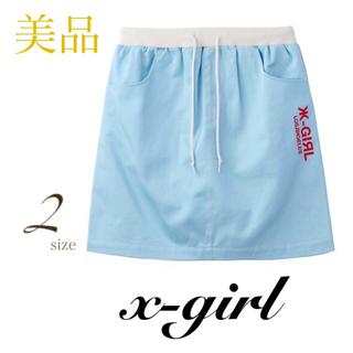 エックスガール(X-girl)のX-girl エックスガール BI COLOR SKIRT ミニ スカート(ミニスカート)