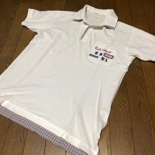 ピンクハウス(PINK HOUSE)のカールヘルム ポロシャツ 白×オリチェ(ポロシャツ)