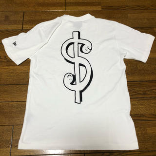 ニューエラー(NEW ERA)の【美品】 New era ニューエラ Tシャツ 半袖 ドル $ 白 S(Tシャツ/カットソー(半袖/袖なし))