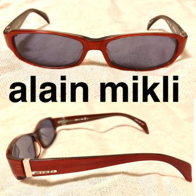 alanmikli(アランミクリ)のalain mikli サングラス レッド スクエア レディースのファッション小物(サングラス/メガネ)の商品写真