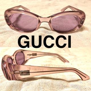 グッチ(Gucci)のGUCCI サングラス クリアフレーム ピンク イタリア製 セルフレーム(サングラス/メガネ)