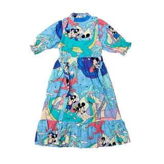 ディズニー(Disney)のミッキー ☆リメイクワンピース☆mickey(ロングワンピース/マキシワンピース)