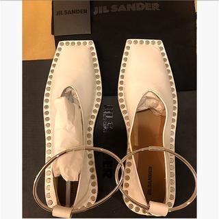 ジルサンダー(Jil Sander)の新品未使用品JIL SANDER アンレックスタッズフラットシューズ(バレエシューズ)