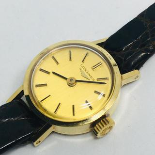 ロンジン(LONGINES)のLONGINES ロンジン k18 750 レディース腕時計 手巻き 金無垢(腕時計)