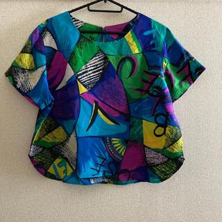 サンタモニカ(Santa Monica)のヴィンテージ シルク トップス(シャツ/ブラウス(半袖/袖なし))