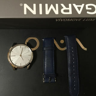 ガーミン(GARMIN)の vívomove Luxe Navy Leather / Silver(腕時計(デジタル))
