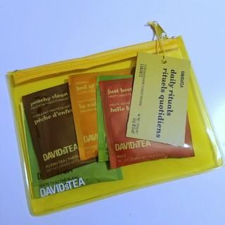 DAVIDsTEA トラベルポーチ付5ティーバッグセット【2個セット】(茶)