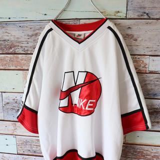 ナイキ(NIKE)のNIKEナイキ USA製 ベースボール メッシュ Tシャツ 白タグ F(Tシャツ/カットソー(半袖/袖なし))