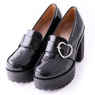 ロジータ(ROJITA)のハートバックルハイヒールローファー(ローファー/革靴)