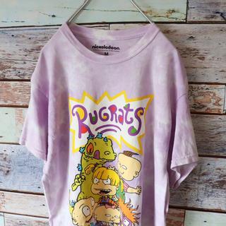 Nickelodeonニコロデオン アニメTシャツ タイダイ パープル M(Tシャツ/カットソー(半袖/袖なし))