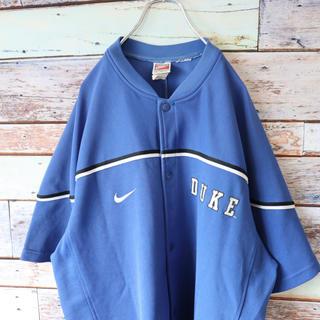 ナイキ(NIKE)のNIKEナイキ 銀タグ DUKE ベースボールシャツ ブルー XL(Tシャツ/カットソー(半袖/袖なし))