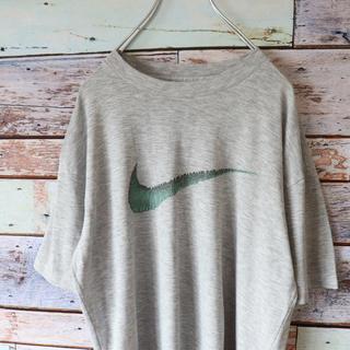 ナイキ(NIKE)のNIKEナイキ Tシャツ ビッグロゴ グレー S相当(Tシャツ/カットソー(半袖/袖なし))
