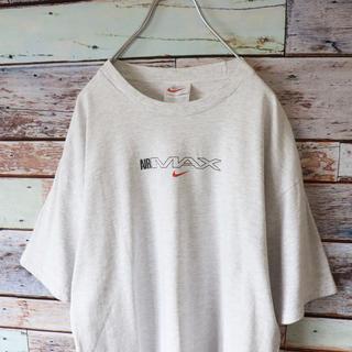 ナイキ(NIKE)のNIKEナイキ 白タグ AIRMAX バックプリント  霜降りグレー M(Tシャツ/カットソー(半袖/袖なし))