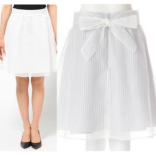 プロポーションボディドレッシング(PROPORTION BODY DRESSING)のプロポのモノトーンシアーストライプスカート(ひざ丈スカート)
