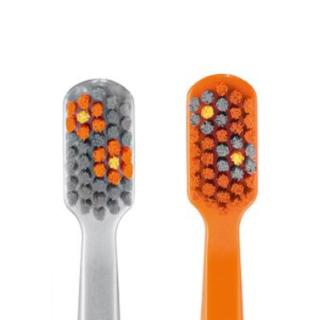 《限定クラプロックス》花柄(シルバー&オレンジ)ウルトラソフト5460(歯ブラシ/デンタルフロス)