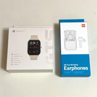 《新品同様》Xiaomi Amazfit GTS&AirDots pro セット(腕時計(デジタル))