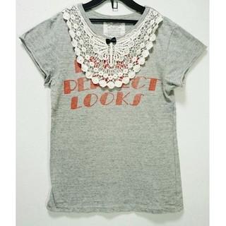 ゴートゥーハリウッド(GO TO HOLLYWOOD)のゴートゥーハリウッド レースモチーフTシャツ 140(Tシャツ/カットソー)