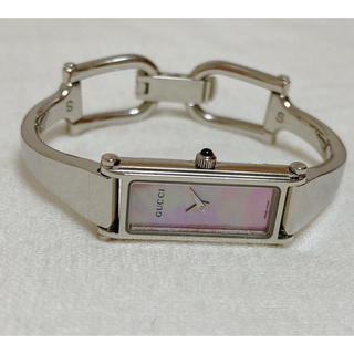 グッチ(Gucci)のGUCCI  時計 1500L  ピンクシェル(腕時計)