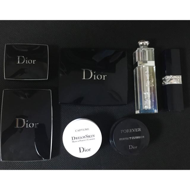 Dior(ディオール)のリップ、アイシャドウ、クッションファンデーションのまとめ売り コスメ/美容のベースメイク/化粧品(その他)の商品写真