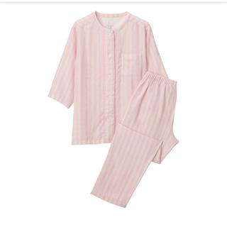 MUJI (無印良品) - 無印良品脇に縫い目のない 細番手二重ガーゼ七分袖パジャマ 婦人M