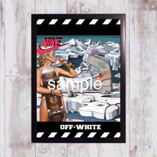 ナイキ(NIKE)のOFF-WHITE × NIKE AIR JORDAN 1 額付き(スニーカー)