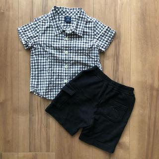 バーバリー(BURBERRY)のバーバリー ハーフパンツ gap チェックシャツ80 フォーマルにも(パンツ)