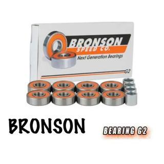 インディペンデント(INDEPENDENT)のBRONSON ブロンソン G2 ホワイト スケボーベアリング 新品 送料込み(スケートボード)