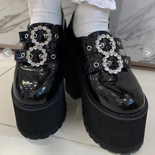 バブルス(Bubbles)のしのぶ様専用BUBBLES ダブルバックル厚底シューズ(ローファー/革靴)