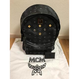 エムシーエム(MCM)の未使用品 MCM レザー スタッズ バックパック スモールミディアム ブラック(リュック/バックパック)