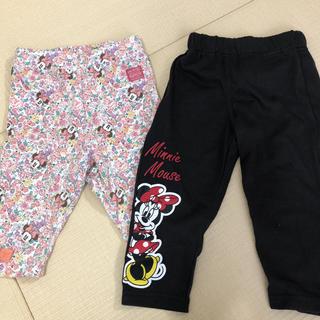 Disney - ミニー レギンス パンツ 2枚組
