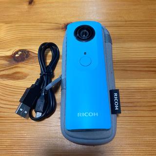 リコー(RICOH)のRICOH THETA m15 (ブルー) 全天球 360度カメラ(コンパクトデジタルカメラ)