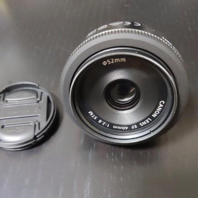 Canon(キヤノン)のCanon 単焦点レンズ EF40mm F2.8 STM フィルターつき スマホ/家電/カメラのカメラ(レンズ(単焦点))の商品写真