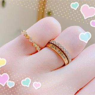 アーカー(AHKAH)のお盆休み限定値下げ♡AHKAH♡アンハートパヴェ♡リング♡2号(リング(指輪))