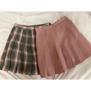 チュー(CHU XXX)のCHUU テニススカート/ 韓国洋服 韓国ファッション(ミニスカート)
