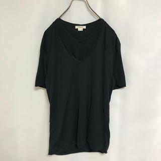 ヘルムートラング(HELMUT LANG)のTシャツ ヘルムートラング カットソー 黒 メンズ HELMUT LANG(Tシャツ/カットソー(半袖/袖なし))