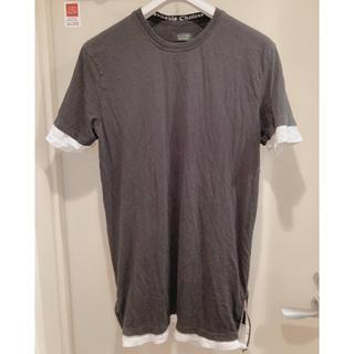 ザラ(ZARA)の定価4千円 美品 4回着 ZARA Tシャツ ブラック L(Tシャツ/カットソー(半袖/袖なし))