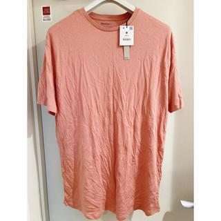ザラ(ZARA)の新品タグ付き Bershka ピンクベージュ オーバーサイズ Tシャツ M(Tシャツ/カットソー(半袖/袖なし))