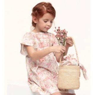 Bonpoint - 新品未使用 Bonpoint  basket bag  ラフィアバッグ