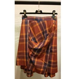 ヴィヴィアンウエストウッド(Vivienne Westwood)のVivienneWestwood チェックスカート(ひざ丈スカート)