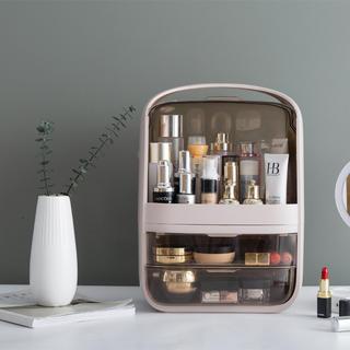 化粧品収納 収納台収納ボックス 大容量 白 メイクボックス メイク収納 在庫整理(メイクボックス)