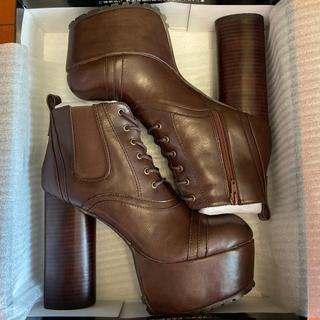 YOSUKE - 美脚効果抜群✨ヨースケ 24.5cm ブーツ ブラウン 茶色