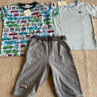 サンカンシオン(3can4on)の3can4on+HusHusHTシャツ2枚新品& 3can4on短パン中古(Tシャツ/カットソー)
