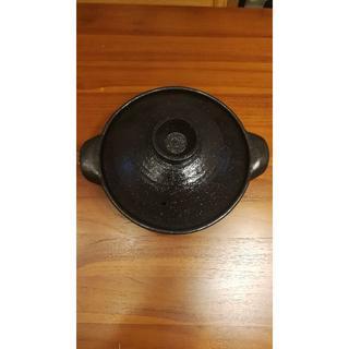 ムジルシリョウヒン(MUJI (無印良品))の無印良品 軽量土鍋 2〜3人用 伊賀焼 黒釉 約1500ml(鍋/フライパン)