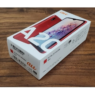 エーユー(au)のGALAXY A20 レッド au SIMフリー SCV46 おまけ付き(スマートフォン本体)