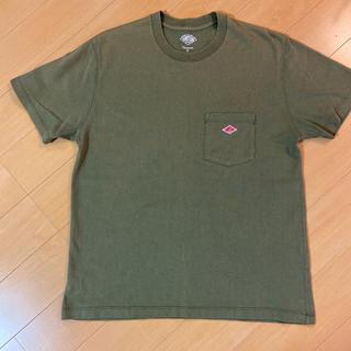 DANTON - DANTON★定番半袖Tシャツ36 カーキオリーブ ポケットTシャツ ダントン