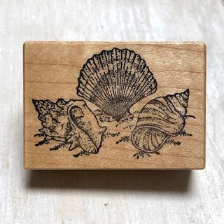 スタンプ 貝殻(印鑑/スタンプ/朱肉)